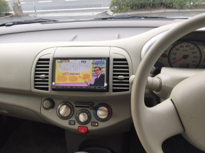 I can watch TV in my car!! (While I'm stopped of course)